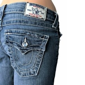 True Religion Jeans Boot Cut Swarovski Buttons